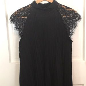 Black Dress With Lace Sleeves